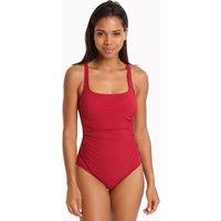 Gottex Profile Moto Lace Side Tank Swimsuit - Ruby