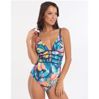 Gottex Profile Bermuda Breeze Plunge Swimsuit - Multi