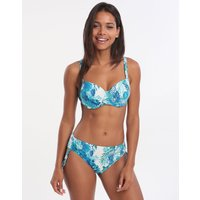 Roidal Coral Iris Underwired Adjustable Bikini Set - Blue