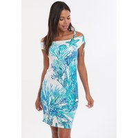 Roidal Coral Teldi Dress - Blue
