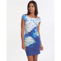 Roidal Blue Flower Ursula Dress - Blue