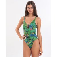 Banana Moon Junglepalm Miller Ladder Front Swimsuit - Green