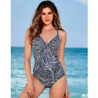 Miraclesuit Lush Lanai Pin Up Swimsuit - Midnight