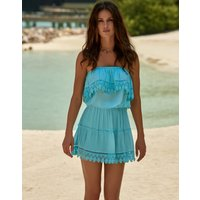Melissa Odabash Joy Bandeau Mini Dress - Sky
