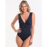 Watercult Summer Solids C Cup Plunge Swimsuit - Deep Ink