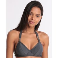 West Seventy Nine Cup Fitting Bikini Top - Anthracite
