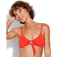 Seafolly Active Ring Front Crop Bikini Top - Tangelo