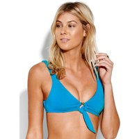 Seafolly Active Ring Front Crop Bikini Top - Electric Blue