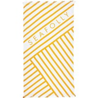 Seafolly Fringe Benefits Angled Stripe Towel - Buttercup
