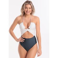 ViX Solid Rachel Duo Swimsuit - Grey