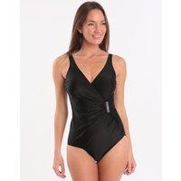 Seaspray Just Colour Long Length Side Buckle Swimsuit - Black