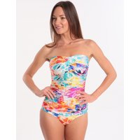 Seaspray Seaspray Paradise Draped Bandeau Swimsuit - Multi