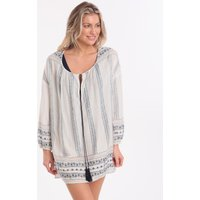 Pia Rossini Anouke Tunic Dress - Blue White