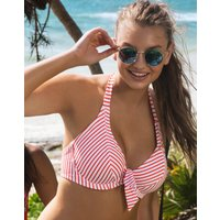 Freya Freya Totally Stripe Underwired Banded Halter Bikini Top - Flame