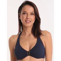 Melissa Odabash Melissa Odabash Provence Halter Neck Bikini Top - Navy Pique