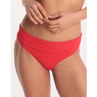Melissa Odabash Provence Fold Bikini Bottom - Red Pique