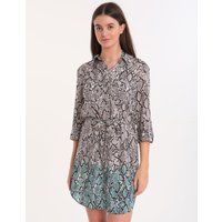Heidi Klein Mozambique Relaxed Shirt Dress - Snake Print