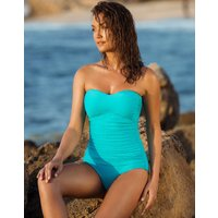 Gottex Profile Ribbons Bandeau Swimsuit - Turquoise