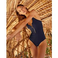 Heidi Klein Sorrento Binding Racerback Swimsuit - Navy