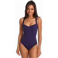 Jets Jets Parallels Low Back Infinity Swimsuit - Indigo