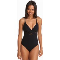 Jets Jets Contour Cross Over Swimsuit - Black