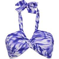 Seafolly Beach Break Bandeau Bikini Top - Dazzling Blue