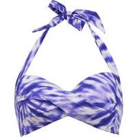 Seafolly Beach Break Twisted Soft Cup Halter Bikini Top - Dazzling Blue
