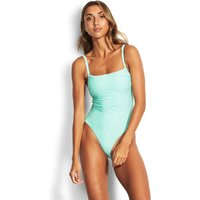 Seafolly Freshwater Square Neck Swimsuit - Fresh Mint