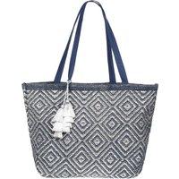 Ashiana Mykonos Tote Bag - Navy and Silver