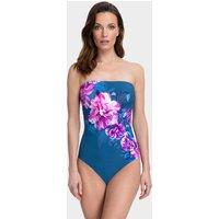 Gottex Fiji Bandeau Swimsuit - Navy/Pink