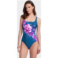 Gottex Fiji Square Neck Tank Swimsuit - Navy/Pink