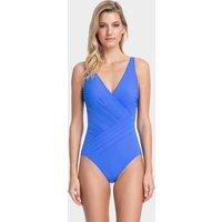 Gottex Lattice Surplice Swimsuit - Sapphire