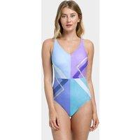 Gottex Modern Art V Neck Tank Swimsuit - Multi Blue