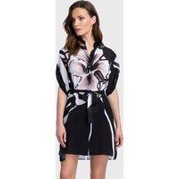 Gottex Midnight Rose Blouse Dress - Black/White