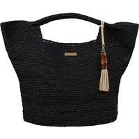 Heidi Klein Grace Bay Raffia Bucket Bag - Black