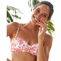 Heidi Klein Belize Balcony Bikini Top - Coral