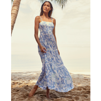 Heidi Klein Langkawi Square Neck Tiered Maxi Dress - Print