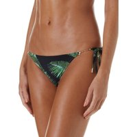 Melissa Odabash Bahamas Gold Chain Trim Bikini Bottom - Palm Black