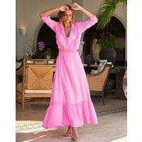 Melissa Odabash Melissa Odabash Talitha Frill Details Maxi Dress - Rose