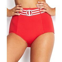 Seafolly Belted High Waisted Bikini Bottom - Chilli