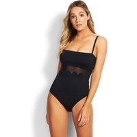 Seafolly Swim Petal Edge DD Swimsuit - Black