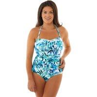Seaspray Emmeline Draped Bandeau Swimsuit - Palm