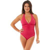 Seaspray Seaspray Irena Halter Plunge Swimsuit - Pink