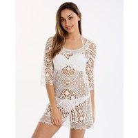 Dreamland Magby Mini Dress - Ecru - Small/Medium White