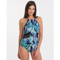 Gottex Profile Moonstone Sports High Neck One Piece - Blue