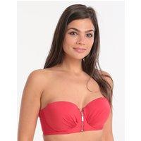 Lepel London Lepel London Beach Chic Moulded Longline Bikini Top - Red