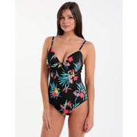 Lepel Lepel Tropic Moulded Plunge UW Swimsuit - Black Print