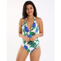 Maryan Mehlhorn Oasis Halter One Piece - Blue Rose