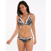 Maryan Mehlhorn Maryan Mehlhorn Safari Halter C Cup Bikini - Black White