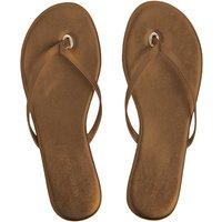 Melissa Odabash Flip Flops - Bronze